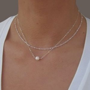 NWT delicate sterling silver layered choker